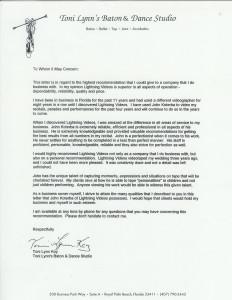 Toni Lynn Letter